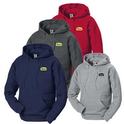 9 oz. adult  hooded fleece pullover