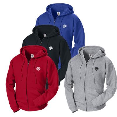 9 oz. zip front fleece hoodie
