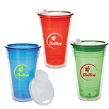 Imprinted Double Wall Party Cup with Lid