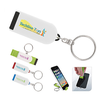 Phone Holder / Screen Cleaner Keychain