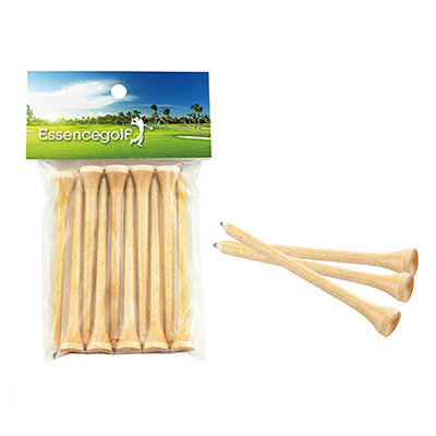 Teecil ® Golf Tees with Card Topper