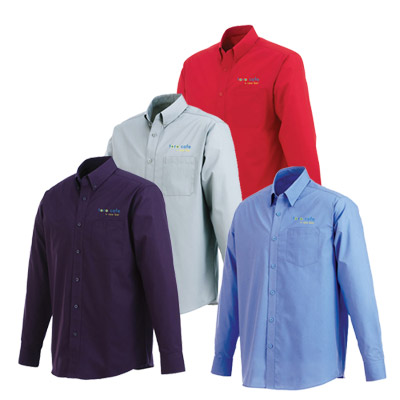 Custom Logoed Men's Preston Long Sleeve Shirt