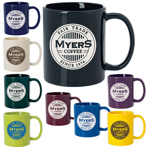11 oz. colored budget mug