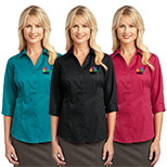 23377 - Port Authority® Ladies 3/4-Sleeve Blouse