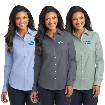 Custom Port Authority Ladies SuperPro Oxford Shirt