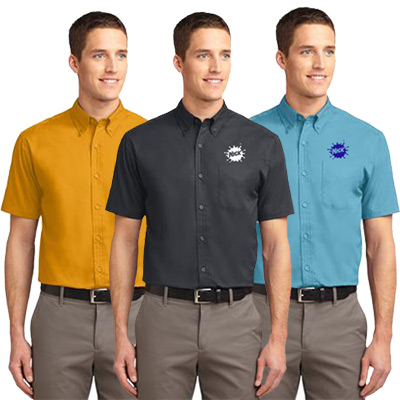 port authority® short sleeve easy care mens shirt