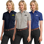 23391 - Port Authority® Ladies Short Sleeve Value Poplin Shirt