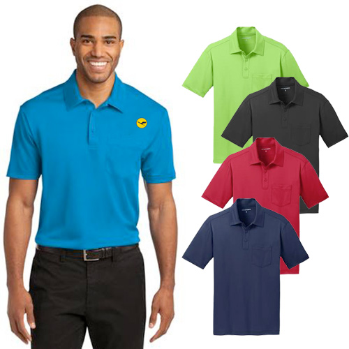Custom Port Authority Silk Touch Pocket Polo