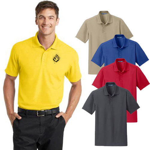 Custom Port Authority Dry Zone Grid Polo Shirts