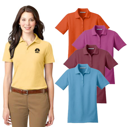 Promotional Port Authority Ladies Stain-Resistant Polo with logo