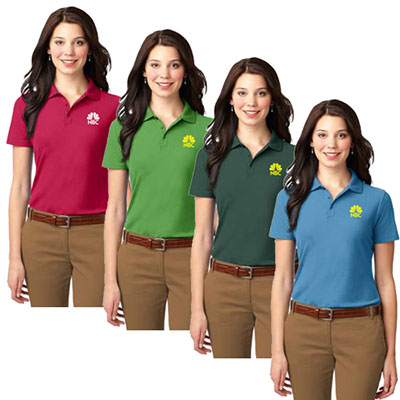 port authority® ladies stain-resistant polo