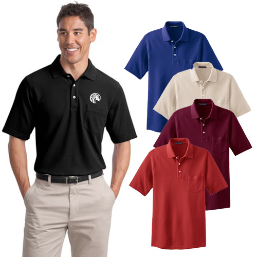 Port Authority® EZCotton™ Pique Pocket Polo