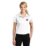 Sport Tek Ladies Micropique Sport Wick Polo white 23453