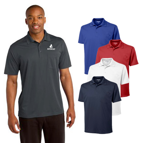 Custom Sport-Tek Micropique Sport-Wick Pocket Polo