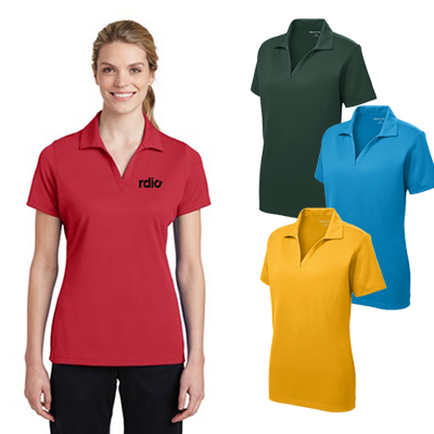 sport-tek® ladies posicharge® racermesh® polo
