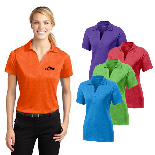 Promotional Sport-Tek Ladies Heather Contender Polo