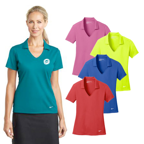 Promotional Nike Golf Ladies Dri-FIT Vertical Mesh Polo
