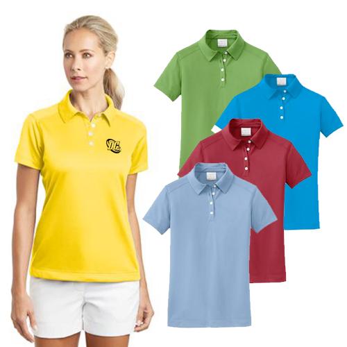 nike golf - ladies dri-fit pebble texture polo
