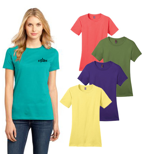 District Made® - Ladies Perfect Weight® Crew Tee