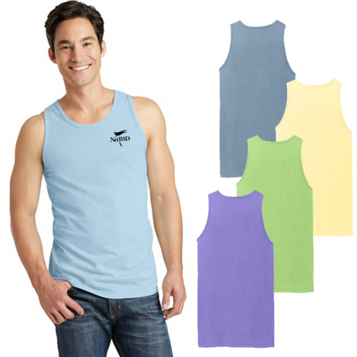 Custom Port and Company Essential Pigment-Dyed Tank Top