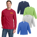 23499 - Port & Company® - Long Sleeve Essential Pocket Tee