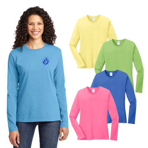 port & company® ladies long sleeve 5.4-oz t-shirt