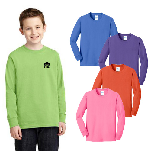 Port & Company®  5.4 oz. Youth Long Sleeve T-Shirt