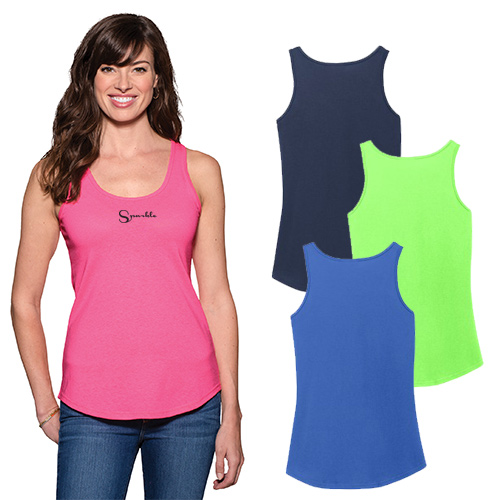 Imprinted Cotton Tank Tops for Ladies - Port & Company