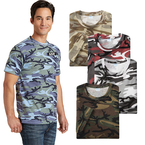 port & company® core cotton camo tee