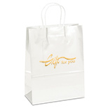 23552 - Amber White Gloss Gift Bag
