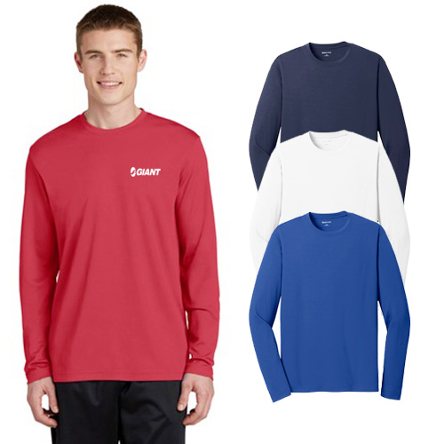 sport-tek® racermesh long sleeve tee