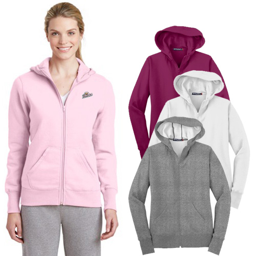 Sport-Tek® Ladies Full-Zip Hooded Fleece Jacket