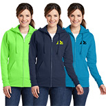 23530 - Port & Company ® Ladies Classic Full-Zip Hoodie