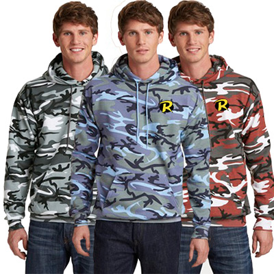 Port & Company® Camo Hooded Sweatshirt