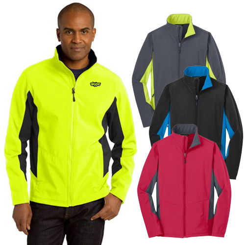 port authority ® core colorblock soft shell jacket