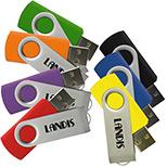 Promotional 16GB Matrix Swivel USB Drive
