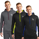 23594 - Sport-Tek ® Sport-Wick ® Fleece Colorblock Hooded Pullover