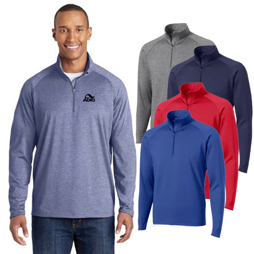 sport-tek ® sport-wick ® stretch 1/2-zip pullover