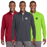 Custom Logo Textured 1/4-Zip Pullover