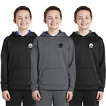 23599 - Sport-Tek® Youth Sport-Wick® Fleece Colorblock Hooded Pullover