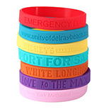Promotional Debossed Silicone Wristbands