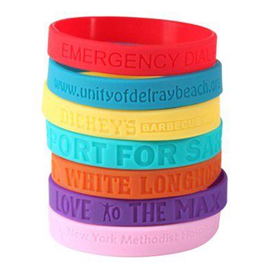 Imprinted Debossed Silicone Wristbands