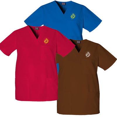 Unisex V-Neck Top - 3 Pockets