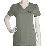 23617 - Grey's Anatomy Ladies 2 Pocket V-neck Top