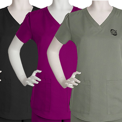 Custom Ladies 2 Pocket V-Neck Top