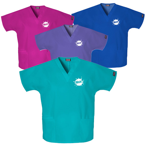Cherokee V-Neck Womens Three Pocket Top