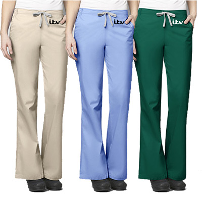 Women's Flare Leg Pant - 4 Pockets