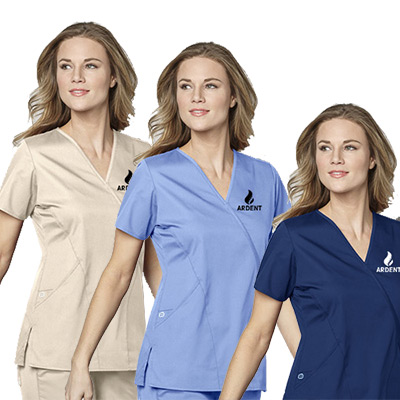 Women's Mock Wrap Top - 4 Pockets