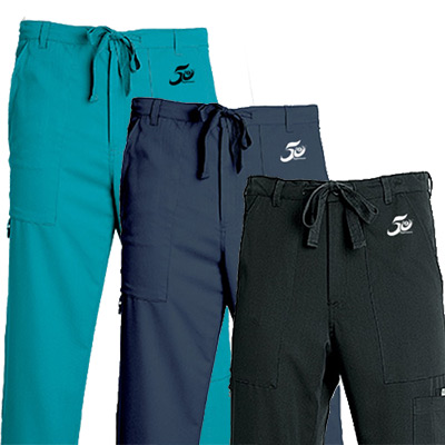 Men's 6 Pocket Zip Fly Drawstring Pants