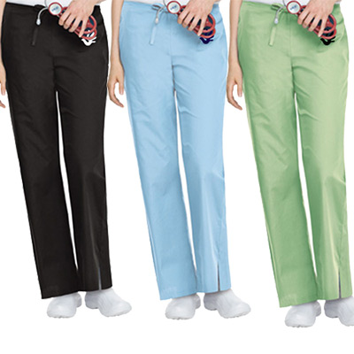 Ladies Flare Leg Pant - 3 Pockets
